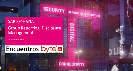 Encuestros BYTE SAP Group Reporting + SAP Disclosure Management